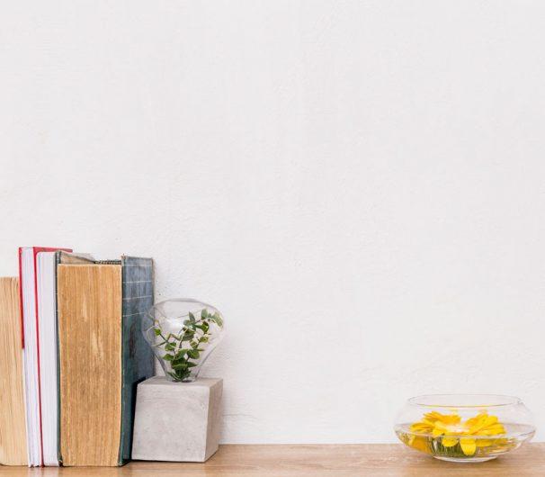 Yellow bg with Books